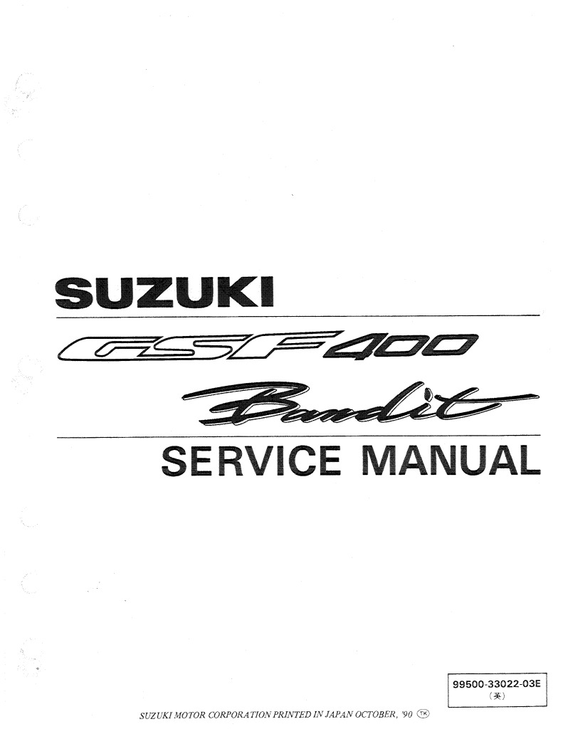 Suzuki Gsf 400 Bandit 1991 1994 Service Manual Pdf  71 5 Mb