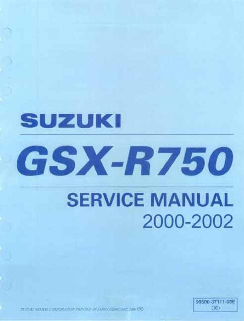 Suzuki Gsx R 750 K1 K2 Service Manual Pdf 45 9 Mb Repair Manuals English En