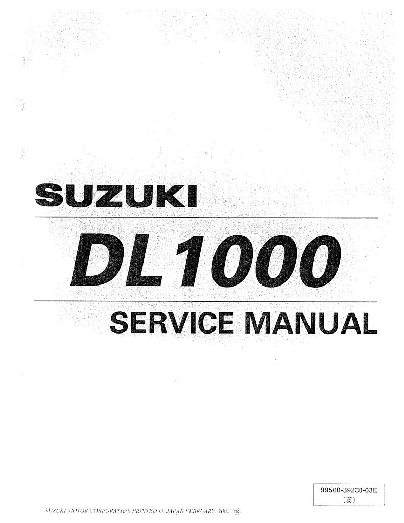 Suzuki Dl1000 Service Manual Pdf  38 4 Mb